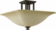 Feiss SF237-ORB American Foursquare 22 inchsq Oil Rubbed Bronze Semi-Flush Mount Ceiling Light