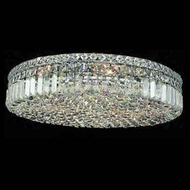 Worldwide 33509 Worldwide 24  9-light Crystal Flush-Mount Ceiling Light
