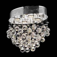 Worldwide 33231 Worldwide Oval 16  4-light Crystal Flush-Mount Ceiling Light