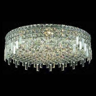 Worldwide 33609 Worldwide 24  9-light Crystal Flush-Mount Ceiling Light w/ Accent