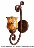 Kalco 3128 Stratford 1-Lamp Glass Wall Sconce