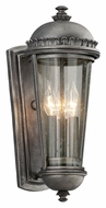 Troy B3562 Ambassador Medium Exterior 3 Candle Wall Lighting - Aged Pewter