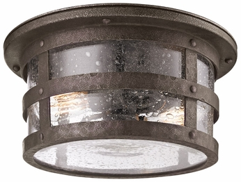 Troy C3310 Barbosa 2 Lamp Nautical Bronze Flush Mount Outdoor Ceiling Light