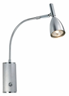 EGLO 88361A Halva I 13 Inch Tall Aluminum & Chrome Finish Modern Wall Lamp