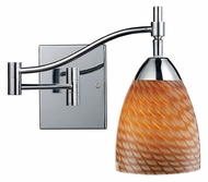 ELK 10151 Celina Swing Arm 14 Inch Tall Wall Lamp With Glass Options
