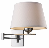 ELK 10106/1 Lanza Transitional Chrome Swing Arm Wall Lamp - 13 Inches Tall