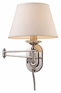ELK 11209/1 Swingarm Transitional Swing Arm Nickel Wall Lamp - 15 Inches Tall