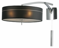 ET2 E22133-11 Study 19 Inch Tall Polished Chrome Modern Wall Lamp