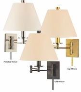 Hudson Valley 7721 Claremont 16 Inch Tall Eco-Paper Shade Swing Arm Wall Lamp With Full Range Dimmer