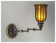 Feiss WB1550ES Ainsley Style Swing Arm Wall Sconce