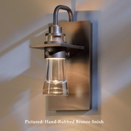 Hubbardton Forge 30-7710 Erlenmeyer 9.5 Inch Tall Outdoor Thick Glass Sconce Lighting
