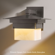 Hubbardton Forge 30-6520 Bungalow Large 10 Inch Tall Exterior Light Sconce - Wrought Iron