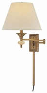 Lite Source LS16956GBRZ Ignazio Traditional Swing Arm Lamp in Gold Bronze