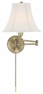 Lite Source LSC7501AB Charleston Swing Arm Wall Lamp in Antique Bronze