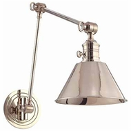 Hudson Valley 8323 Garden City Vertical Swing Arm Wall Lamp - Metal Shade