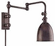 Hudson Valley 771 Monroe 24 Inch Swing Arm Wall Light with Metal Shade