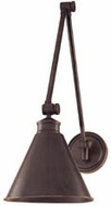 Hudson Valley 4721 Exeter Contemporary Wall Swing Arm Lamp with Metal Shade
