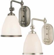 Hudson Valley 1428 Somerset Wall Swing Arm Lamp with Glass Shade