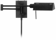 Lite Source LS1101-BLK Pharma Halogen Wall Swing Arm Lamp - Black