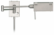 Lite Source LS1101-SS Pharma Halogen Wall Swing Arm Lamp - Satin Steel