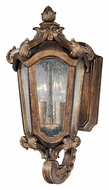 Maxim 40222CNWN Bastille VX Small Walnut 15 Inch Tall Traditional Outdoor Wall Light