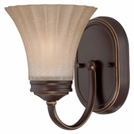 Quoizel ALZ8601PN Aliza 8 Inch Tall Palladian Bronze Wall Sconce Light - Transitional