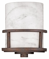 Quoizel KY8801IN Kyle 8 Inch Wide Iron Gate Finish Pocket Wall Sconce