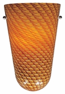 ET2 Carte Amber Ripple Glass Wall Sconce Lighting - Bronze