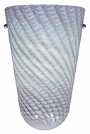 ET2 Carte 11 Inch Tall Wall Lighting Fixture - Grey Ripple Glass