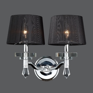 Worldwide W23135C17 Gatsby 2 Lamp 17 Inch Wide Transitional Wall Light Fixture