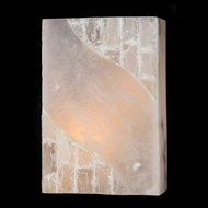 Worldwide W23803 Pompeii Transitional Natural Crystal Wall Sconce - 12 Inches Tall
