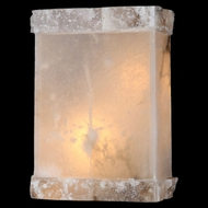 Worldwide W23805 Pompeii 12 Inch Tall Natural Crystal Sconce Lighting Fixture
