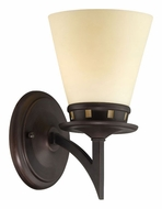 Lite Source LS16451 Erina 9 Inch Wide Aged Bronze Finish Wall Light Fixture