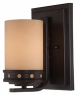 Lite Source LS16461 Melita Dark Bronze Finish 9 Inch Tall Transitional Wall Light