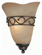 Lite Source LS16885 Rosina Traditional Dark Bronze Wall Lighting Fixture - 8 Inches Tall