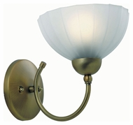 Lite Source LS17151BRZ/FRO Alani 8 Inch Tall Transitional Bronze Finish Wall Light - Frosted Glass