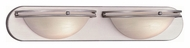Lite Source LS13982SS/CLD Caprice 2 Lamp 24 Inch Wide Satin Steel Vanity Lighting For Bathroom