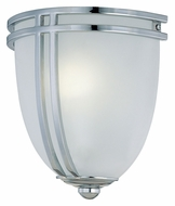 Lite Source LS16097C/FRO Finnegan 8 Inch Tall Chrome Finish Transitional Pocket Wall Sconce