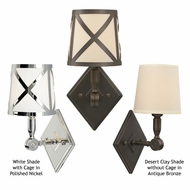 Tech 600WEBW Webster Wall Sconce With Optional Shade Cage