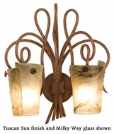 Kalco 4286 Tribecca 2-Light Glass Wall Sconce