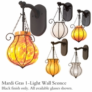 Kalco 4431 Mardi Gras 1-Light Wall Lantern