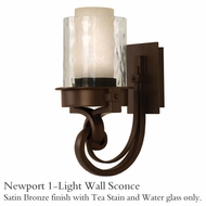Kalco 5751sz Newport 1-Light Wall Sconce