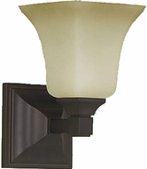 Feiss VS12401-ORB American Foursquare 1 Light Oil Rubbed Bronze Wall Sconce Lighting Fixture