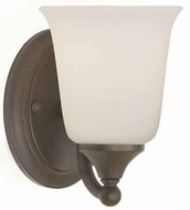 Feiss VS10501-ORB Claridge 1 Light Wall Sconce in Oil Rubbed Bronze