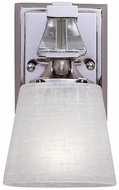 Quoizel DX8601C Deluxe Polished Chrome Wall Sconce with Cream Linen Glass