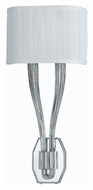Crystorama 582-CH Sterling Polished Chrome Finish Transitional 2 Light Wall Lamp