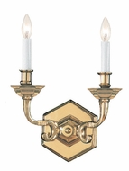Crystorama 612-PB Arlington 2 Candle 9 Inch Wide Polished Brass Wall Light Fixture