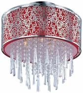 Maxim 22291RDSN Rapture Red Shade Crystal Modern Ceiling Lighting