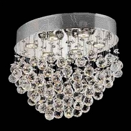 Worldwide 33232 Worldwide Oval 20  6-light Crystal Flush-Mount Ceiling Light