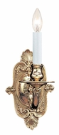 Crystorama 641-PB Arlington Antique Polished Brass Finish 12 Inch Tall Candle Sconce